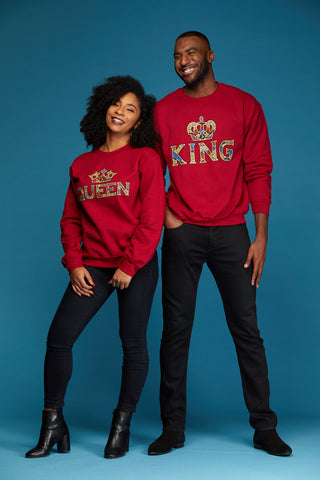 African Print Athleisure Collection King and Queen Sweatshirts