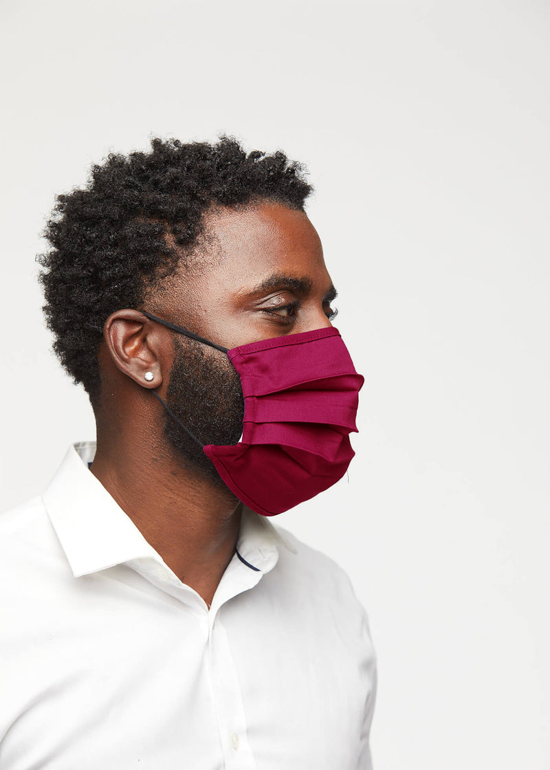 Uzo 2 Layer Reusable Face Mask (Maroon)