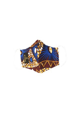 Shaka African Print 3 Layer Reusable Face Mask (Blue Pyramids) - Clearance