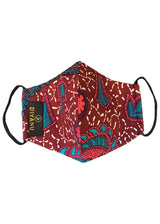 Dabo African Print 2 Layer Reusable Face Mask (Pink Teal Ditsy)