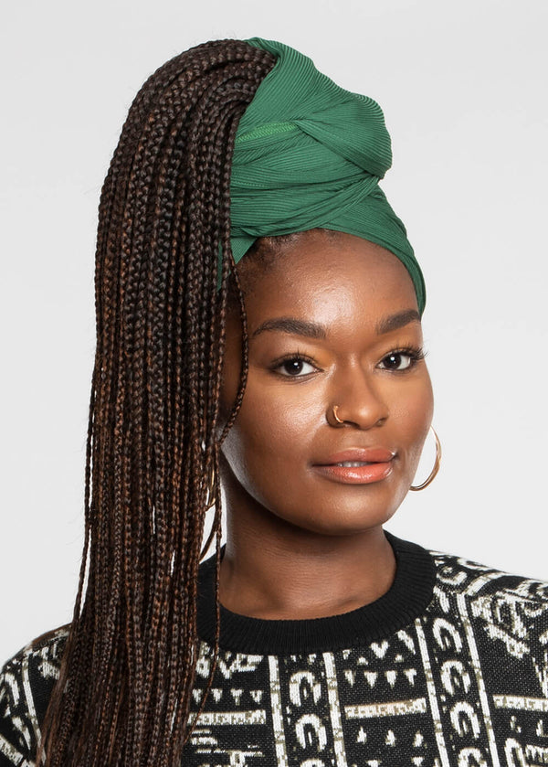 Tiara Rib Knit Head Wrap (Green)