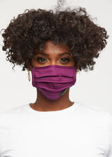 Uzo 2 Layer Reusable Face Mask (Plum)