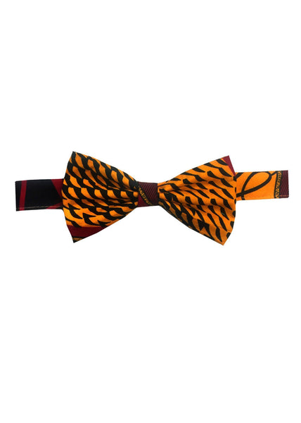 Accessories - Abeo African Print Bow Tie (Red/Yellow)