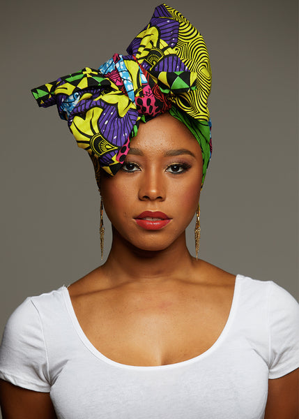 Accessories - African Print Head Wrap/Scarf (Colorful Multipattern)