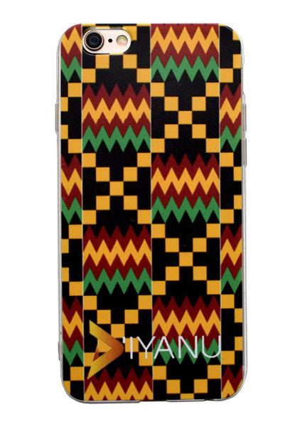 Accessories - African Print IPhone 6/6s Case (Yellow/Black Kente)