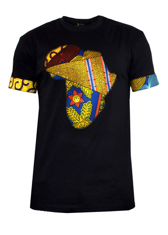 Bayo Men's Africa T-shirt (black/multipattern)