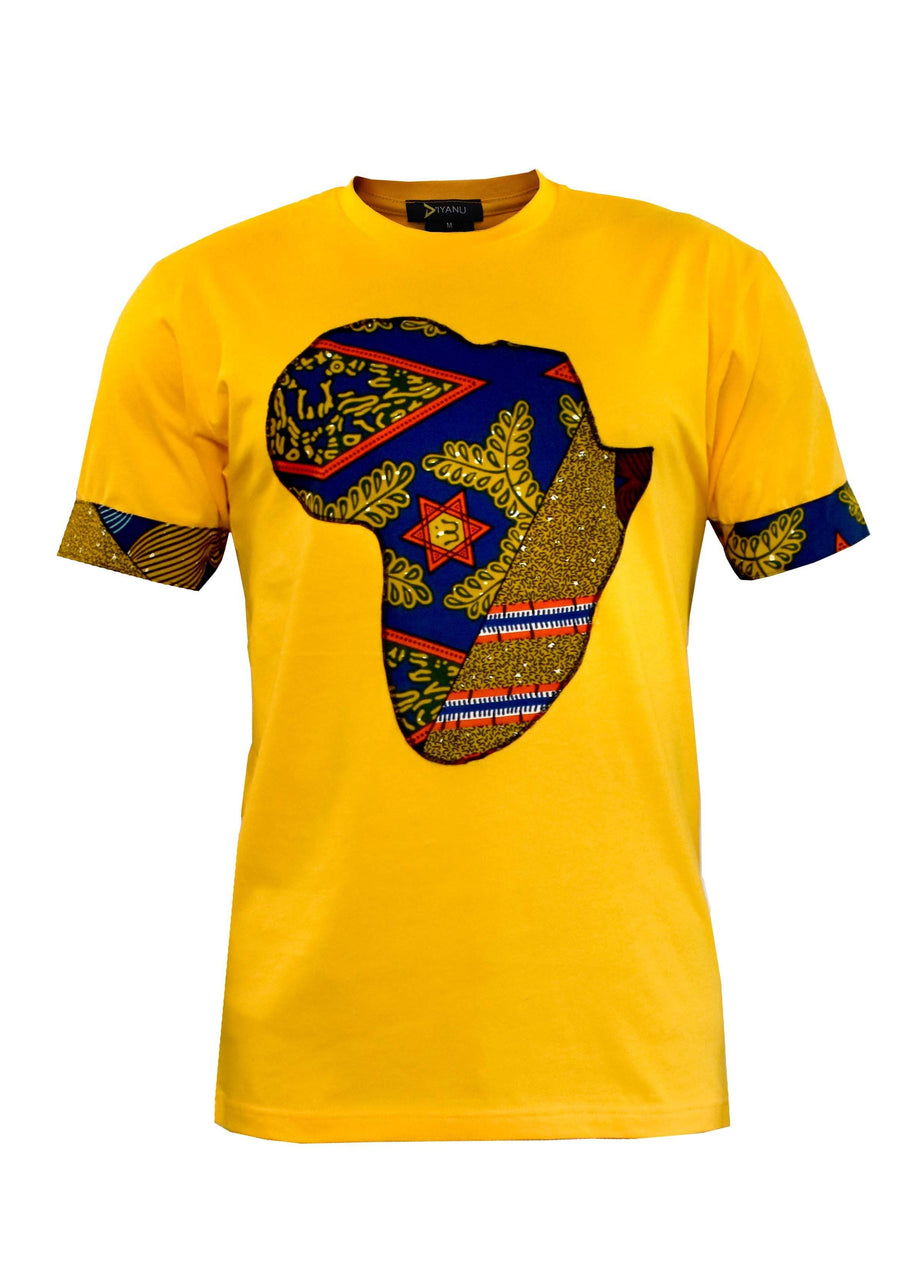 Bayo Men's Africa T-Shirt (Gold/Multipattern)