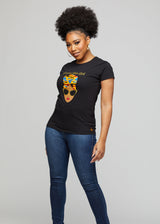 "Jaida Women's ""Brown Skin Girl"" Tee (Black)"