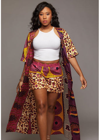 Dalila African Print Duster