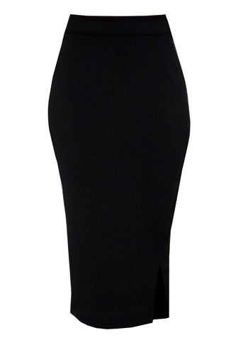 Skirts - Hasana Pencil Midi Skirt (Black)