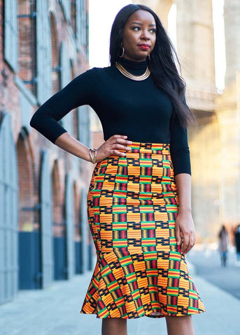 69d01c904ff70c Our collection includes African print skirts and dresses that are great for  work