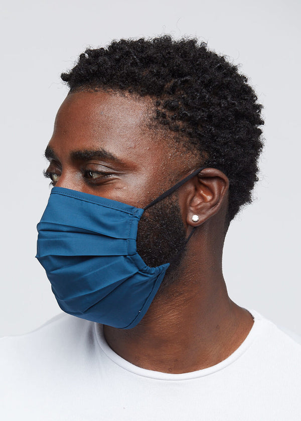 Uzo 2 Layer Reusable Face Mask (Deep Teal)