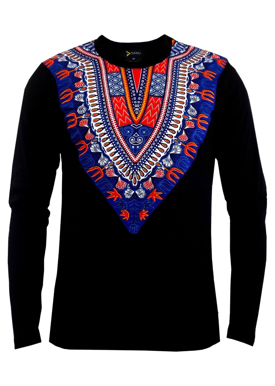 Beautiful authentic African print Men's Shirt H6mD89