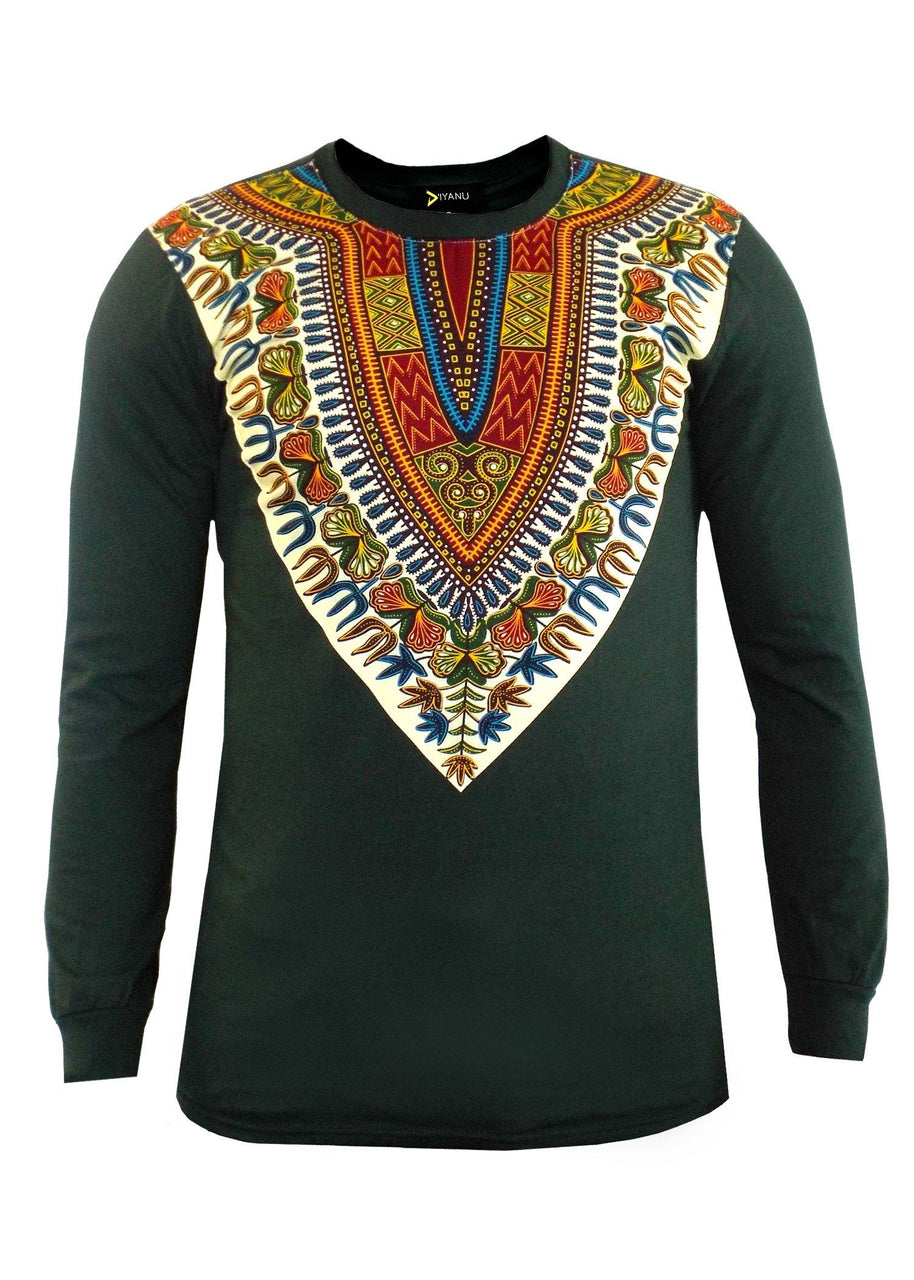 African Print Dashiki Print Men's Shirts in Long Sleeves. Short Sleeves available too