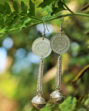 Hmong Coin and Bells - Handmade Earrings