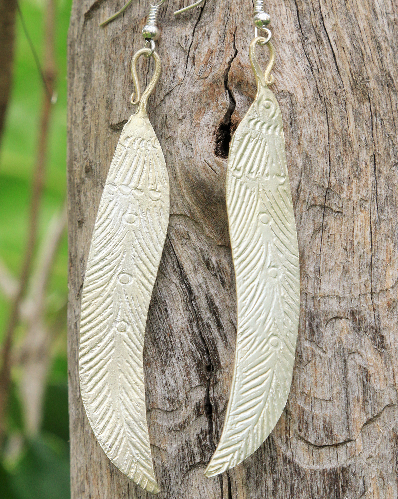 Hmong Leaf - Handmade Earrings