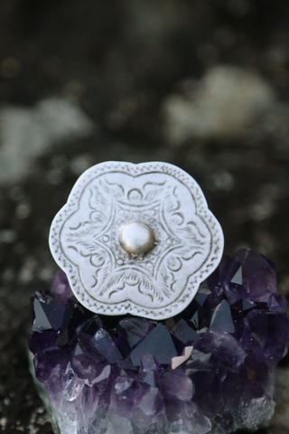 Turkish Flower Shield Ring