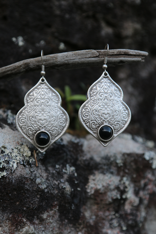 Turkish  Black Stone Earrings