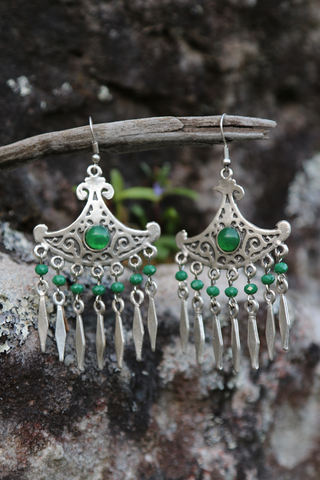 Turkish Green Stone Earrings