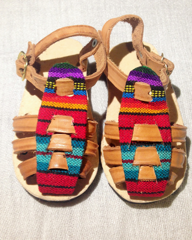 Handmade Guatemalan Childrens Sandals-size 19 (Assorted colours)