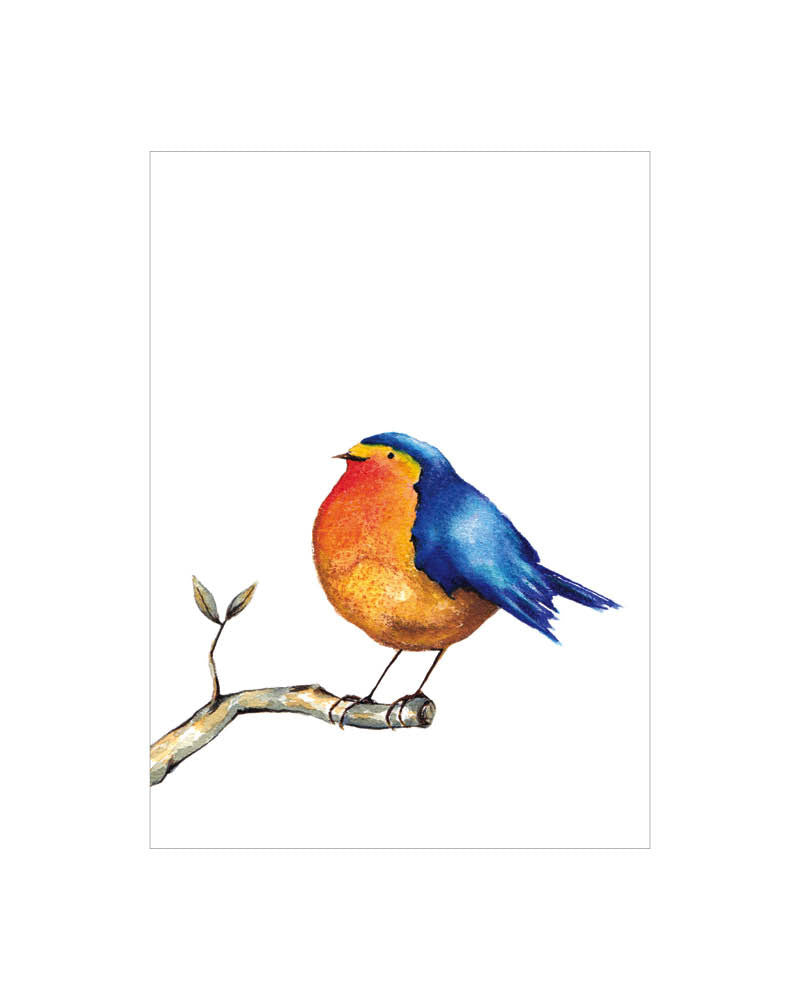 Natural Born Lovers Designs Gift Card- 'Round Little Blue Bird'