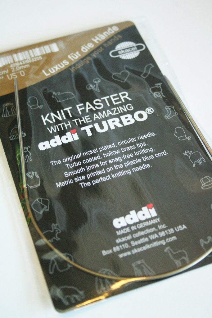"Addi Turbo 40"" 100 cm) Circular Knitting Needles"