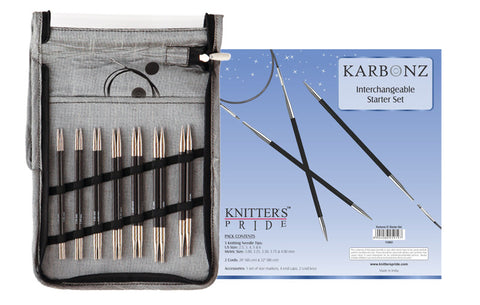 Knitters Pride KARBONZ Interchangeable  Needle Starter Set