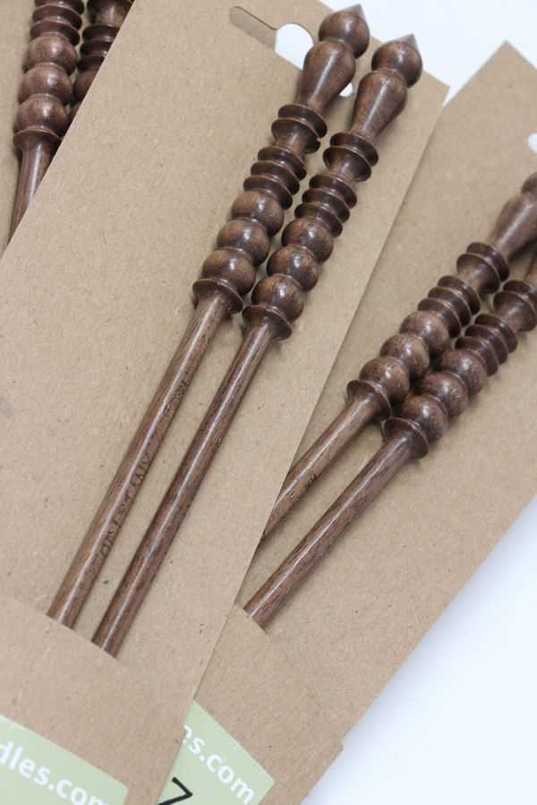 "Brittany Black Walnut Single Point Needles (10"")"