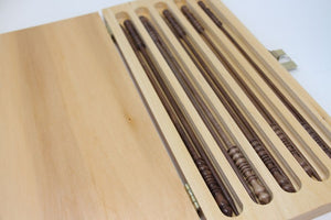Brittany - Black Walnut Victorian Boxed Needle Set