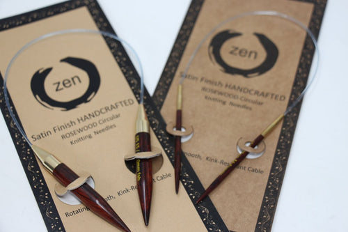 ZEN Rosewood Circular Knitting Needles