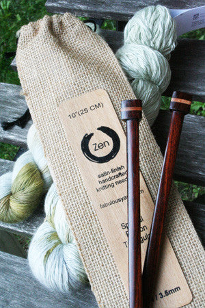 ZENå© Knitting Needles - Triangular Single Point Rosewood Knitting Needles