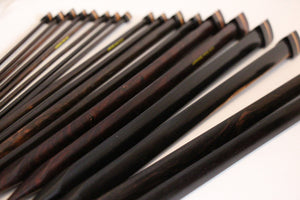 ZEN© Knitting Needles - Triangular Single Point Rosewood Knitting Needles