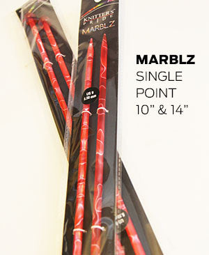 "Knitters Pride - Marblz (10"") Single Point Acrylic"