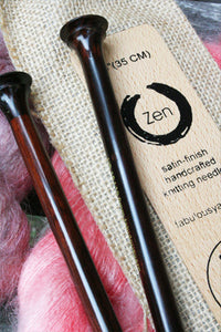 ZEN Knitting Needles© - Rosewood Single Point