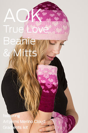 AOK Knitkit - True Love Beanie & Mitts