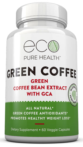 Green Coffee Bean Extract Supplement - 60 Capsules by Eco Pure Health
