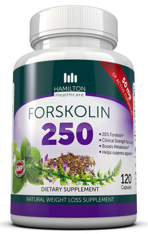 Forskolin 250mg Appetite Suppressant and Weight Loss By Hamilton Healthcare