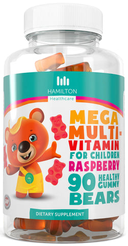Mega Multi-Vitamin For Children, Healthy Gummy Bears with No Artificial Flavors
