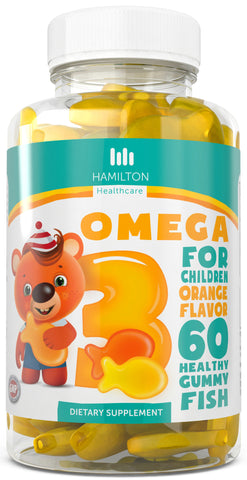 Omega 3 for Children, Healthy Gummy Fish with No Artificial Flavors