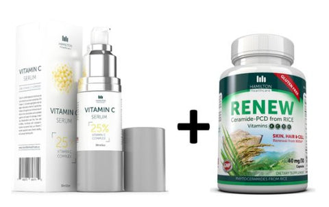 RESULTS PACK Vitamin C Serum + Phytoceramides 'Renew' for Skin, Hair and Nails