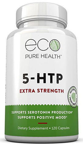 5-HTP Extra Strength, Supports Positive Mood, Sleep & Relaxation, by Eco Pure Health