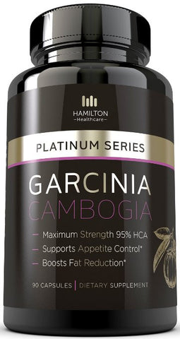 Garcinia Cambogia 95% HCA - Pure Extract for Weight Loss by Hamilton Healthcare