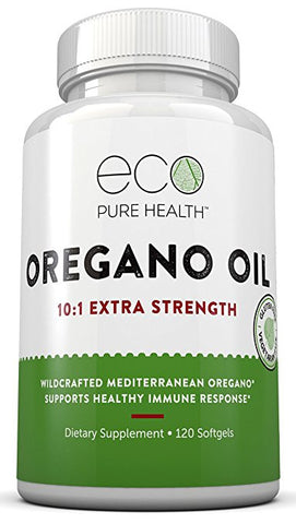 Oregano Oil 10:1 Extra Strength, For Healthy Immune Response, By Eco Pure Health
