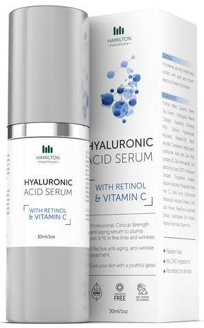 Hyaluronic Acid Serum with Vitamin C & Retinol by Hamilton Healthcare