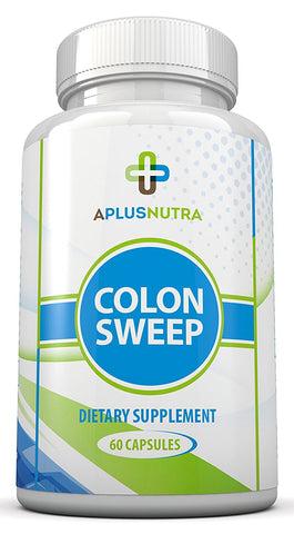 Colon Sweep - Advanced Formula - Helps Digestive System Detox,  Safe & Gentle - by A Plus Nutra