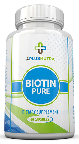 Biotin Pure - Supports Hair Growth, Clear Skin, Stronger Nails for Men and Women by A Plus Nutra