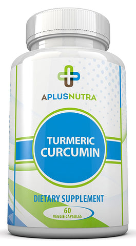 Turmeric Curcumin - Powerful All Natural With Bioprene For Superior Absorption By A Plus Nutra
