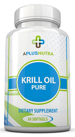 100% Pure Krill Oil Antarctic Omega 3 DHA and EPA Plus Super-nutrients By A Plus Nutra
