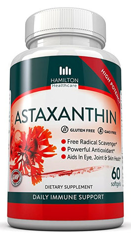 Astaxanthin 10 mg - Supports Cholesterol, Cardiovascular & Eye Health by Hamilton Healthcare