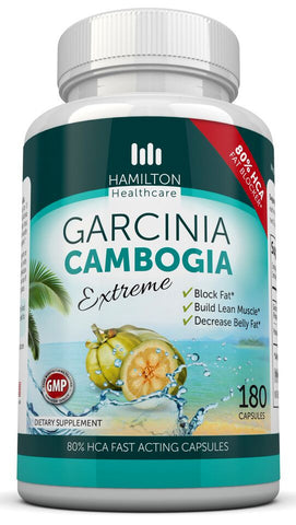 Garcinia Cambogia 80% HCA Super Strength 180 Capsules By Hamilton Healthcare